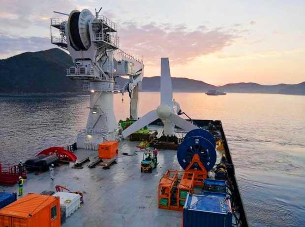 SAE Turbine on Ship