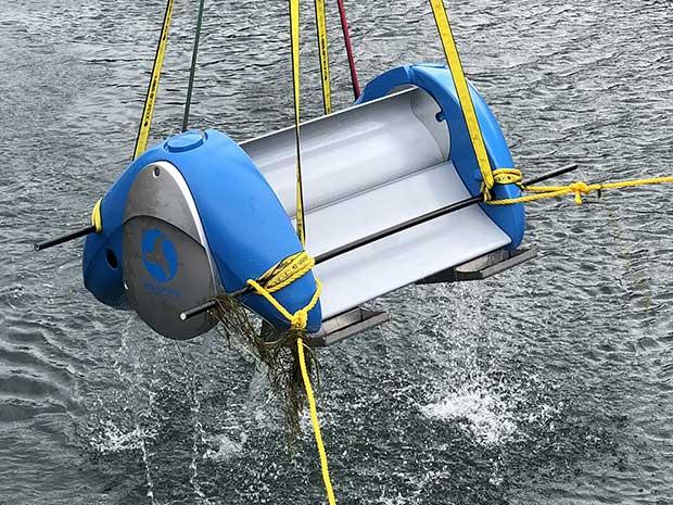 Waterotor in ocean